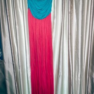 Dresses & Skirts - Teal & pink maxi💕